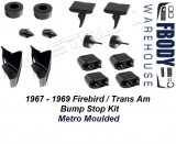 1967 - 1969 Firebird Body Bump Stop Kit 16 Pc Metro Moulded