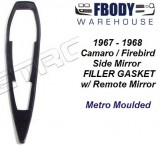 1967 - 1968 Camaro Firebird Side Mirror Filler Gaskets For Remote Side Mirror