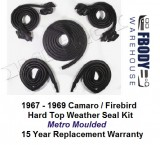 1968 - 1969 Weather Seal Kit Hardtop Camaro / Firebird Metro Moulded
