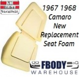 1967 - 1968 Camaro New Replacement Seat Foam Front Buckets