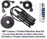 1967 FULL Weather Seal Kit Convertible Camaro / Firebird Metro Moulded