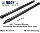 1967 Camaro Firebird Windshield Pillar Post Weather Seal for Convertible Metro Moulded