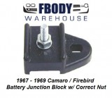 1967 - 1969 Camaro Firebird Battery Junction Block w/ Correct Nut