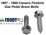 1967 - 1969 Camaro Firebird Gas Pedal Brace Mounting Bolt Kit