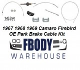 1967 - 1969 Camaro Firebird Parking Brake Cable Kit O/E Full Kit