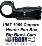 1967 - 1969 Camaro NON A/C BLACK Outer Fan Box NEW Big Block Cars