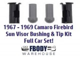 1967 - 1969 Camaro Firebird Sun Visor Bushing and Tip Kit 4 pc