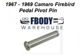 1967 - 1969 Camaro Firebird Automatic Brake Pedal Pivot Pin