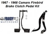 1967 - 1968 Camaro Firebird Clutch & Brake Pedal Assembly