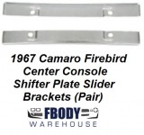 1967 Camaro Firebird Center Console Shifter Plate Slider Brackets * Pair