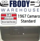 1967 Camaro Standard Door Panels 5 Available Colors w/ Chrome