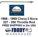 1967 - 1969 Chevy 2 / Nova Quadrajet Universal Throttle Rod with Swivel