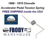 1968 - 1975 Chevelle Accelerator Pedal Tension Spring NEW
