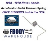 1968 - 1979 Nova Accelerator Pedal Tension Spring NEW