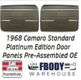 1968 Camaro Standard Door Panels 5 Available Colors PLATINUM EDITION w/ Chrome