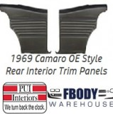 1969 Camaro Standard Rear Interior Trim Panels 6 Available Colors PLATINUM EDITION