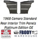 1968 Camaro Standard Rear Interior Panels Hard Top 5 Colors Available PLATINUM EDITION w/ Chrome