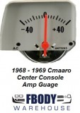1968 1969 Camaro Center Console Mounted Amp Gauge Silver