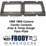 1968 - 1969 Camaro Console Gauge Trim Plate Temp / Amps Gauges