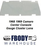 1968 - 1969 Camaro Console Gauge Lens (Sold as a pair)