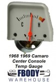 1968 1969 Camaro Center Console Mounted Temperature Gauge Silver