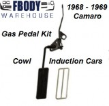 1968 - 1969 Camaro Complete Gas Pedal Kit for Cowl Induction Cars w/ Accent Trim