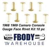 1968 - 1969 Camaro Center Console Gauges Face Mounting Rivets 10 pc)