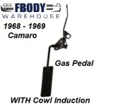 1968 - 1969 Camaro Complete Gas Pedal Kit for Cowl Induction Cars
