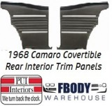 1968 Camaro Convertible Standard Rear Interior Panels Hard Top 5 Colors Available w/ Chrome