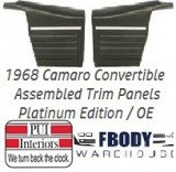 1968 Camaro Standard Rear Interior Panels Convertible 5 Colors Available PLATINUM EDITION Assembled
