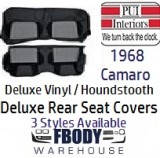 1968 Camaro DELUXE Houndstooth Rear Seat Covers 3 Styles Available