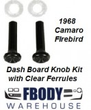 1968 Camaro Firebird Astro Vent Knobs Black & Ferrules Clear