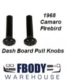 1968 Camaro Firebird Astro Vent Knobs Knob Set PAIR Black
