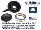 1969 Camaro Air Cleaner Assembly Cowl Induction 302 Models