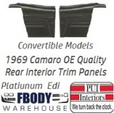 1969 Camaro Convertible Standard Rear Interior Trim Panels 6 Available Colors PLATINUM EDITION