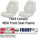 1969 Camaro New Replacement Seat Foam Front Buckets STANDARD