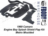 1969 Camaro Engine Bay Splash Shield Flap Kit Metro Moulded