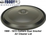 1967  - 1972 Camaro Dual Snorkle Air Cleaner Lid NEW
