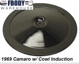 1969 Camaro Air Cleaner Lid for Cowl Induction Cars Black