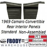1969 Camaro Convertible Standard Rear Interior Panels Hard Top 6 Colors Available