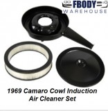 1969 Camaro Air Cleaner Assembly Cowl Induction with black Lid