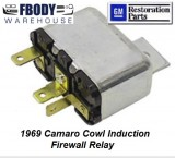 1969 Camaro Cowl Induction Firewall Mounted Relay NEW