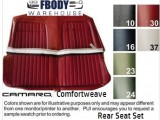 1969 Camaro Rear Seat Covers Deluxe Comfortweave SET 3 Styles