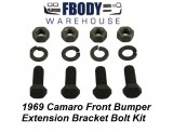 1969 Camaro Front Bumper Extension Bracket Bolt Kit