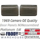 1969 Camaro Standard Door Panels 6 Available Colors PLATINUM EDITION