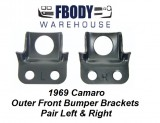 1969 Camaro Front Bumper Brackets Outer New Pair