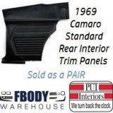 1969 Camaro Standard Rear Interior Panels Hard Top 6 Colors Available