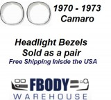 1970 - 1973 Camaro Head Light Shrouds. (PAIR)