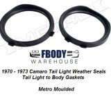1970 - 1973 Camaro Tail Light Gaskets Metro Moulded