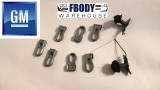 1970 - 1973 Trans Am Exterior Door Trim Mounting Hardware Deluxe Trim GM Clips!